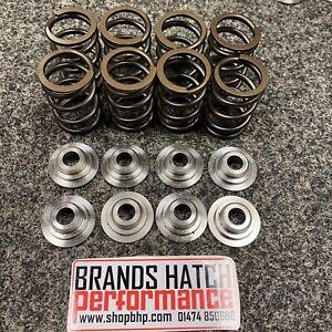 8 X Ford Cvh Motoren Verstärkt Einzel Ventil Federn & Kappen