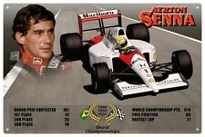 AYRTON SENNA TIN SIGN