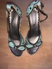 Womans Green & Brown Wedges Size 5