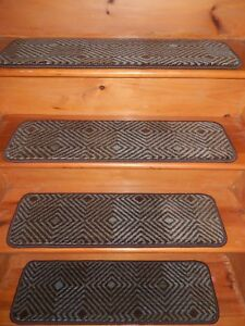 """15 = STEP 9""""x 30""""+ 28"""" X 30"""" Stair Treads Staircase WOVEN WOOL .LB 72"""