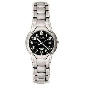 New Mens  Bulova 96B72 Millennia 100 Meter Titanium Bracelet Watch