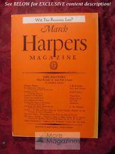 HARPER's March 1937 J B PRIESTLEY E. M. DELAFIELD ELMER DAVIS CARL CROW