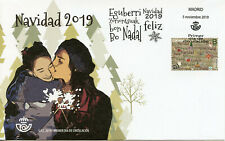 Spain Christmas Stamps 2019 FDC Navidad Trees Snowman 1v S/A Set