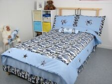 Blue Camouflage Army Boy Twin Childrens Bedding Set 4pc