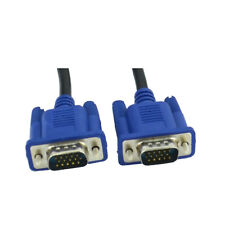 VGA MALE TO VGA MALE LEAD CABLE FOR LAPTOP PC TO LCD MONITOR TV GRAPHICS VIDEO