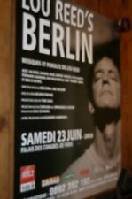 LOU REED - Affiche promo / French promo poster BERLIN !!!