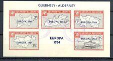 LOCAL ALDERNEY -EUROPA 1964- USED BLOCK  VF