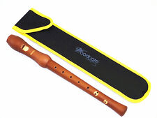 Set of 2 Woodnote Baroque 8 Holes Soprano Recorder(Maple/Brown Finishing )+Bag