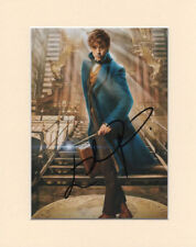 EDDIE REDMAYNE NEWT SCAMANDER FANTASTIC BEASTS PP MOUNTED SIGNED AUTOGRAPH PHOTO