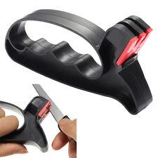 Black Pro 2 in 1 Handheld Scissors Knife Blade Cutter Sharpener Tools Beauty New