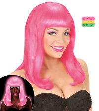 Payton Neon Perücke pink NEU - Karneval Fasching Perücke Haare