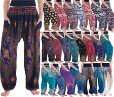 Beautiful Women's Flowy Harem Boho Pants Hip Hop Trousers High Waist Loose Pants
