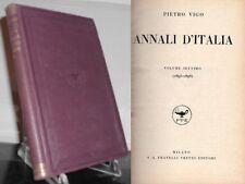1935: PIETRO VIGO - ANNALI D'ITALIA, VOLUME VII (1895-1898) - MILANO, TREVES ED.