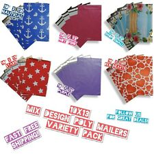 30 Poly Mailers 10x13 Mix Design & Color Variety Pack (5 ea)