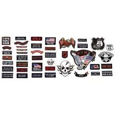Live To Ride 42pc Embroidered Motorcycle Patch Set GFPATCH42