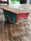Vintage Handcrafted Painted Terra Cota Clay House 3D Wall Decor Folk Art