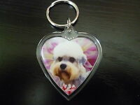 Dandie Dinmont Dog Gift Keyring Dog Key Ring heart Birthday Mothers Day Gift