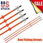 "New Bow Fishing Arrows 32"" Fiberglass Shaft w/ Fish Hunting Points & Safe Slide"