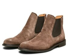 Selected Homme Chelsea Boots High Shoes Cocoa Brown Suede Leather UK 9