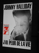 JOHNNY HALLYDAY RARE AFFICHE TELE 7 JOURS FRENCH POSTER ORIGINAL