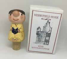 Merryfield Monk Wine Bottle Stopper Devon Handmade Pottery UK Artisan Torquay