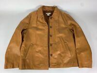 Vintage J Crew Coffee Womens Leather Jacket Vintage Tobacco (Brown) - UNIQUE!