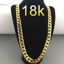 18 K Gold plated 6 mm Chain 28 Inch