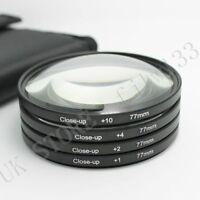 77MM Macro Close Up  Lens Kit +1 +2 +4 +10 for DSLR SLR Digital Camera Lens