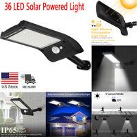 Waterproof 36 LED Solar Lights PIR Motion Sensor Outdoor Garden Yard Wall Lamp
