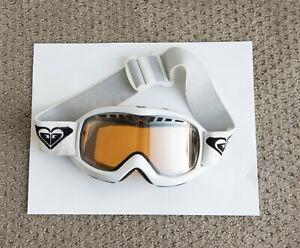 Roxy Antifog Goggles Ski Or Snowboard White With Orange Lens