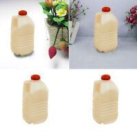 1:12 Doll House Mini kitchen Accessories White Milk Kettle Milk Bottle