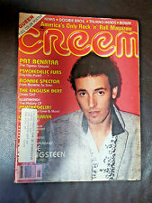 Creem Music Magazine January 1981 Bruce Springsteen Ronnie Spector