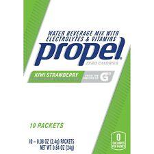 5 Propel Zero Kiwi Strawberry Drink Mix, 50 ct  exp Jan 2021