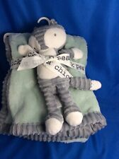 """Chick Pea Grey Raccoon Plush Security Blanket Baby Toy 14""""X14"""""""