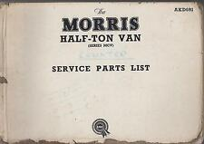 MORRIS COWLEY MCV SERIES HALF-TON 1950-1956 ORIG.FACTORY SERVICE PARTS CATALOGUE