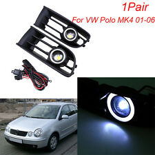 Front Lower Grill Fog Light LED Angel Eyes for VW Polo MK4 9N Classic Lim. 02-06