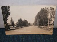 Vintage NORTH WALNUT STREET Scene Sutherland Nebraska Real Photo Postcard RPPC ~