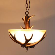 Retro Antler Deer Chandelier Bar Restaurant Hanging Pendant lamp Ceiling Fixture