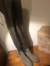 Free People Coast To Coast Over The Knee Suede Boot Taupe Size 8 NIB