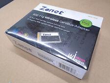 Zonet ZEW1505 Wireless CardBus Adapter 802.11g 54Mbps 2.4Hz