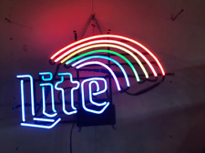 "Lite Rainbow Neon Light Sign 32""x24"" Lamp Poster Real Glass Beer Bar"