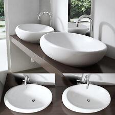 Keramik Waschschale Aufsatz Wandmontage Waschbecken Waschtisch BL488A NANO
