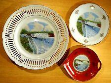 Prospect Point & General View Niagara Falls NY 3 Plates Souvenir China Bavaria