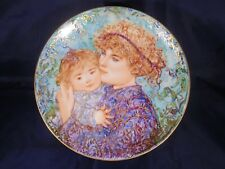 "Edna Hibel Mothers Day Plate 1989 ""Jessica and Kate"" #2759A M9"