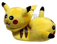 "Nintendo Pokemon Pikachu 9"" Kids Children Stuffed Toy Soft Plush Slipper 1 Pair"
