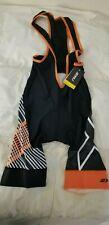 2XU Men's Sub Cycle Cycling Bib Shorts Medium Black / Orange Criss Cross