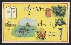 Chromo Publicitaire CHOCOLAT LOUIT à Bordeaux - Rébus n° 19 Série 30 casse-têtes