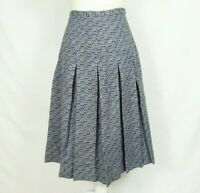 """Womens Vintage Skirt Blue 1950s Size XS 24.5"""" Waist Tag AS IS Union Made"""