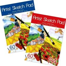 60 SHEETS 80GSM ARTISTS A4 DRAWING SKETCHING  PAPER CARTRIDGE PAD -WH2 -TBL3