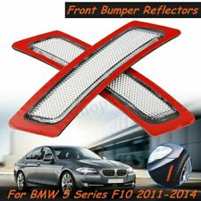 Pair Clear Front Bumper Reflector Lamp Side Lights For BMW 5 Series F10 2011-14